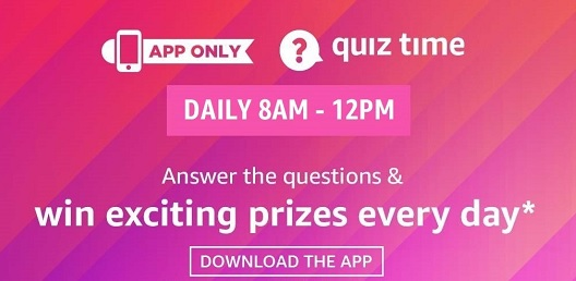 Amazon Daily Quiz Answers for 28th April